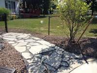 Flagstone walkway in Lancaster