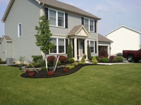 Lancaster NY front landscaping