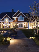 Landscape lighting in the Buffalo NY area