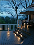 Deck step lights